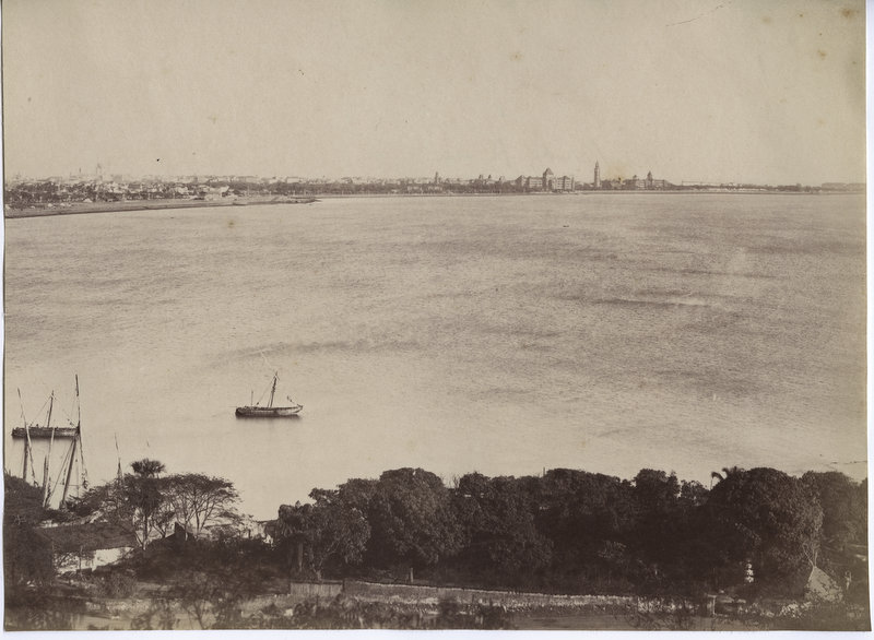 View of the Port of Bombay (Mumbai) - c1890's