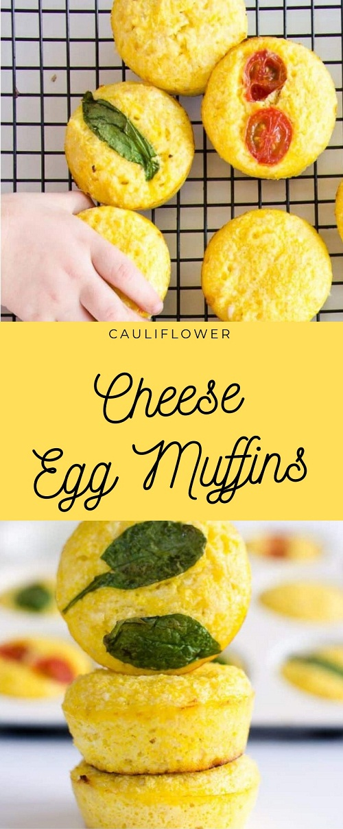Cauliflower Cheese Egg Muffins