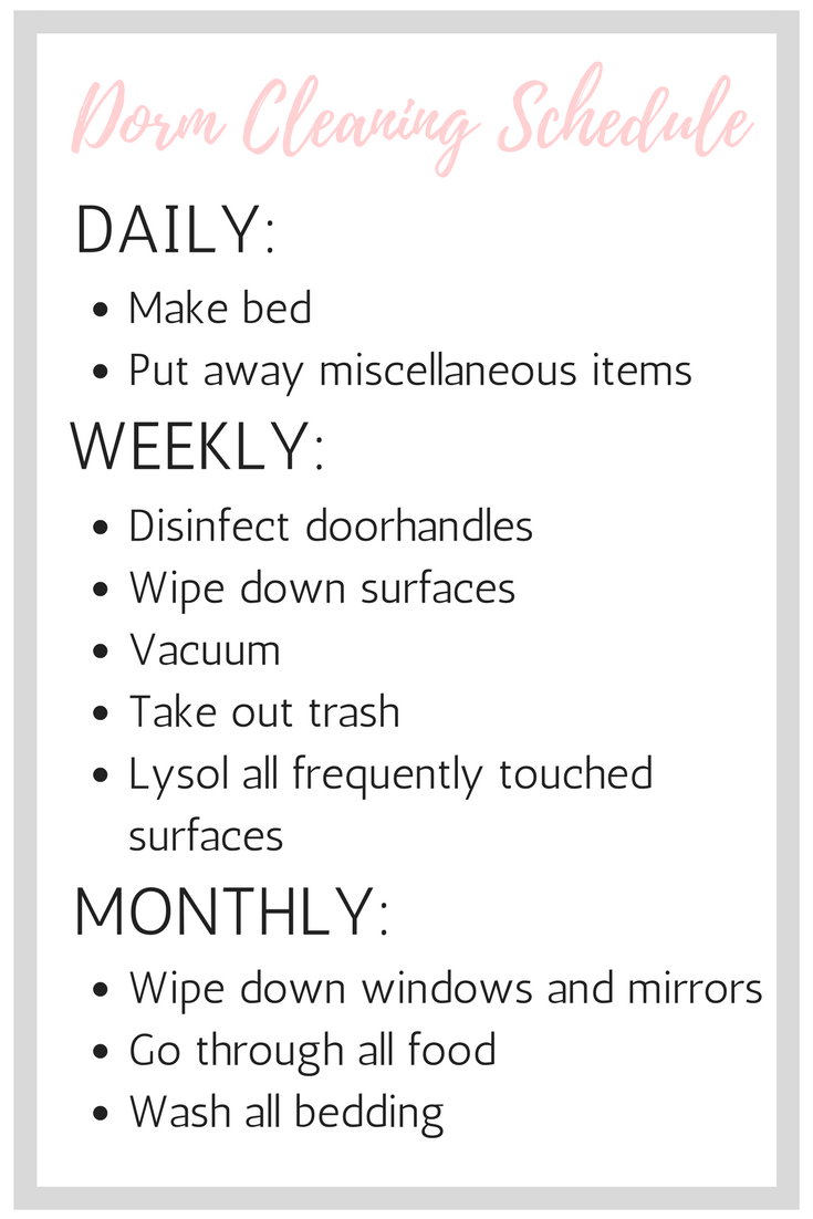 dorm-room-cleaning-checklist