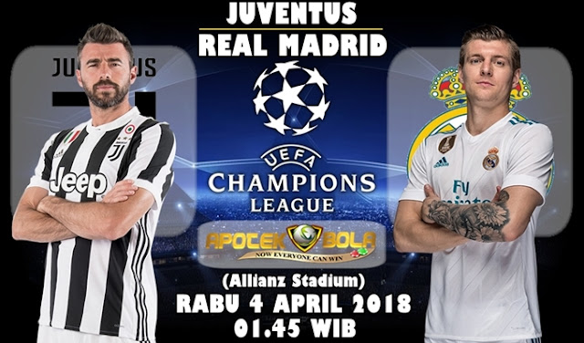 Prediksi Juventus vs Real Madrid 4 April 2018