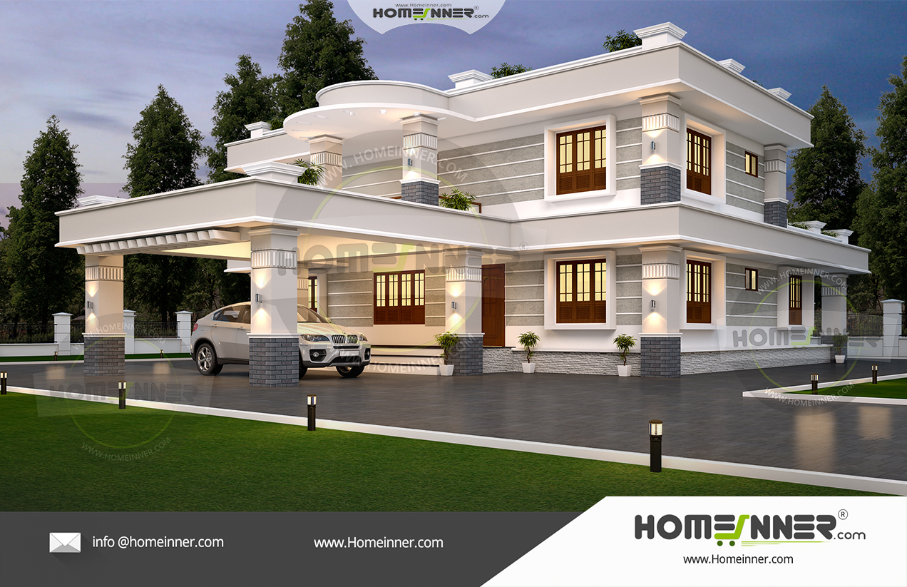 48 Lakh 4 Bedroom 4 Bath contemporary Kozhikode villa