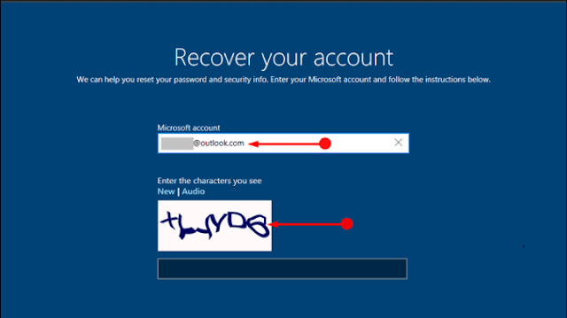 Use Windows 10 'I forgot my password' from Login Screen