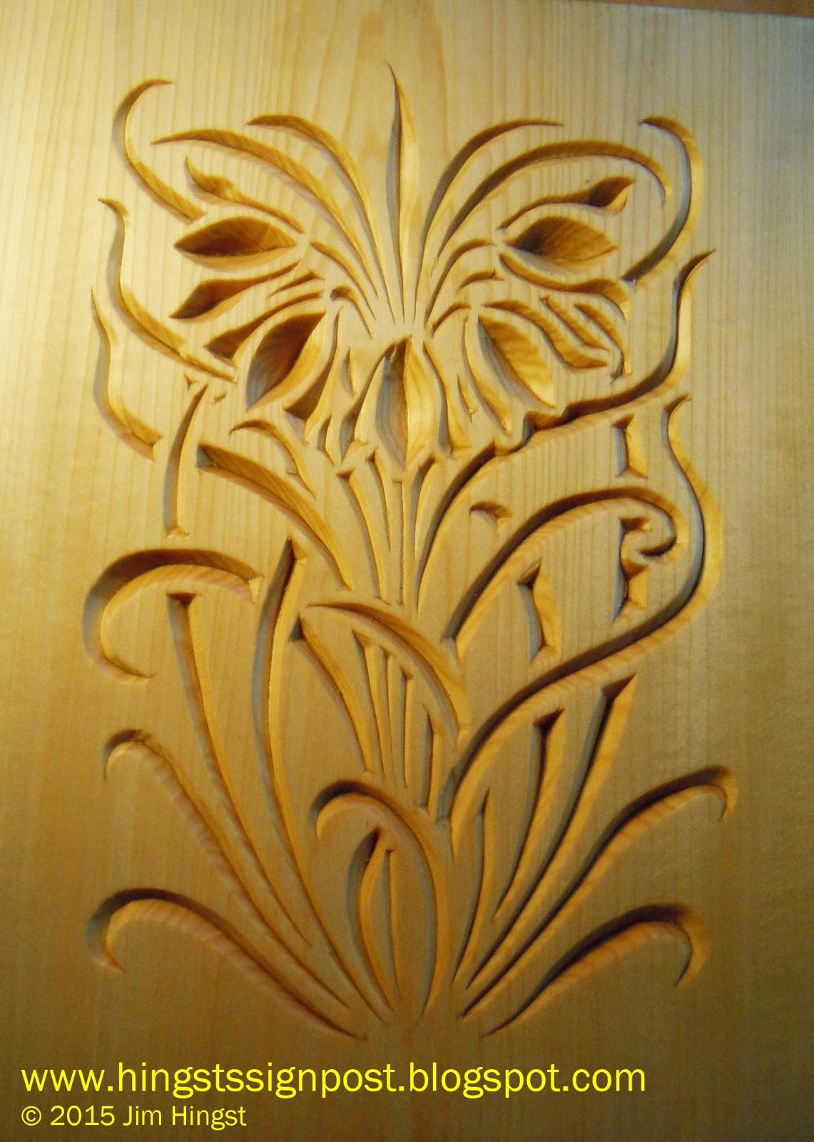 Using Relief Cuts In Woodcarving Hingst S Sign Post