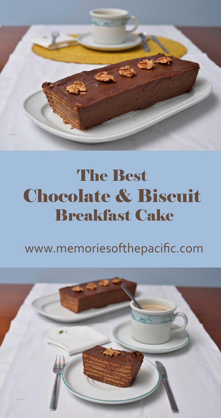 chocolate biscuit breakfast cake