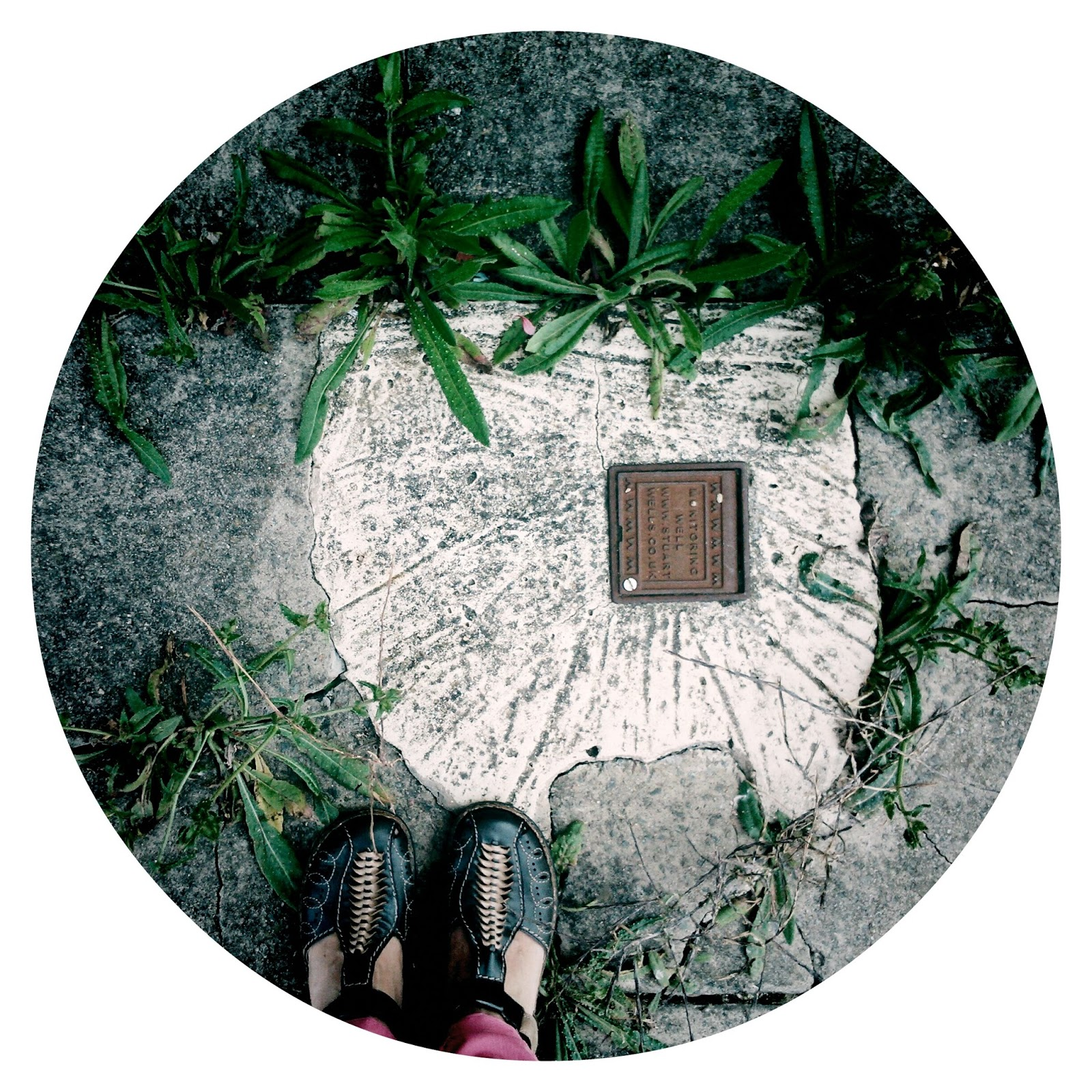 Feet and weeds