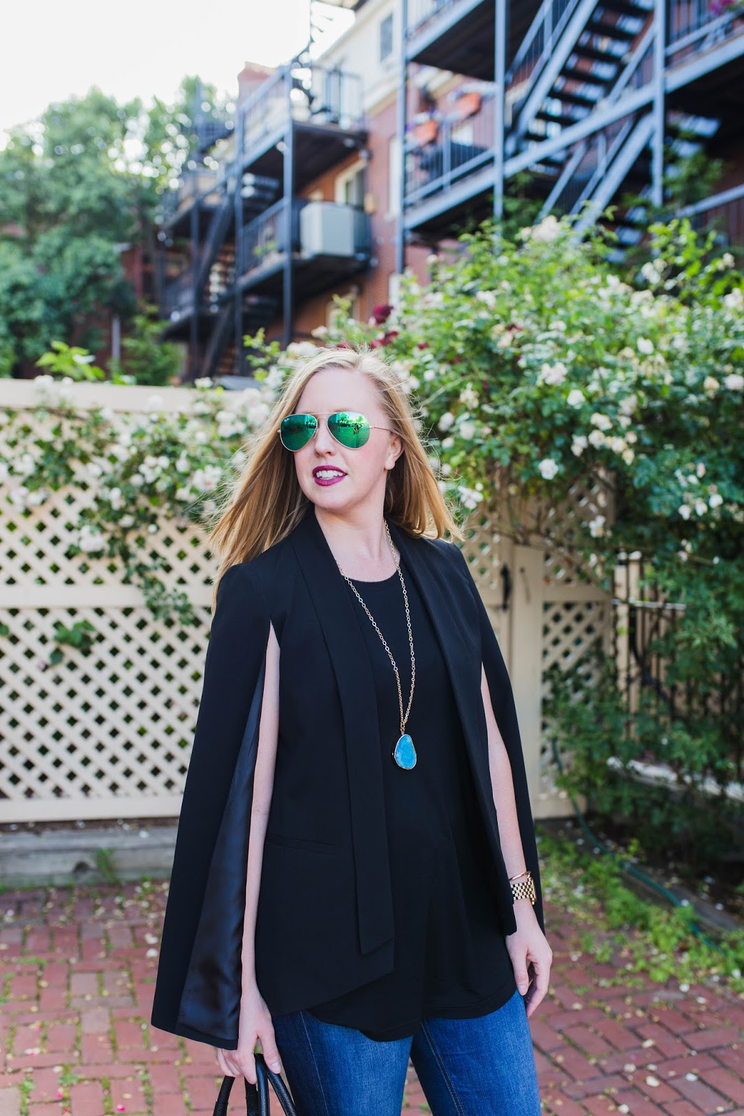 mural cape blazer, nordstrom cape blazer, black cape blazer, cape blazer summer, summer suit options, boston style blogger, boston fashion blogger, summer suits, charlestown style blog