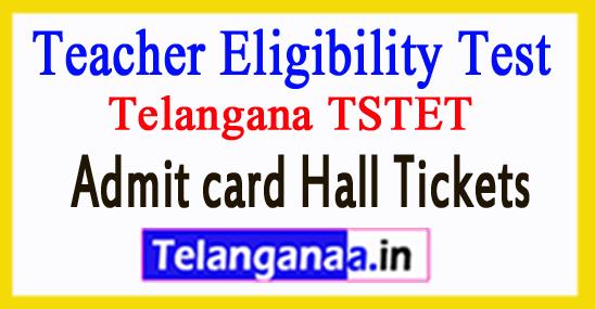 Telangana TSTET 2018 Admitcard Halltickets Download