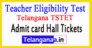 Telangana TSTET 2017 Admitcard Halltickets Download