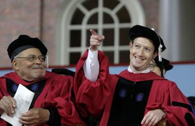 Mark Zukerberg gets degree