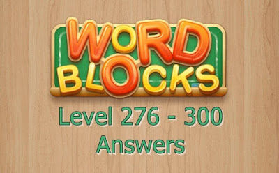 Word Blocks Level 276 Answers