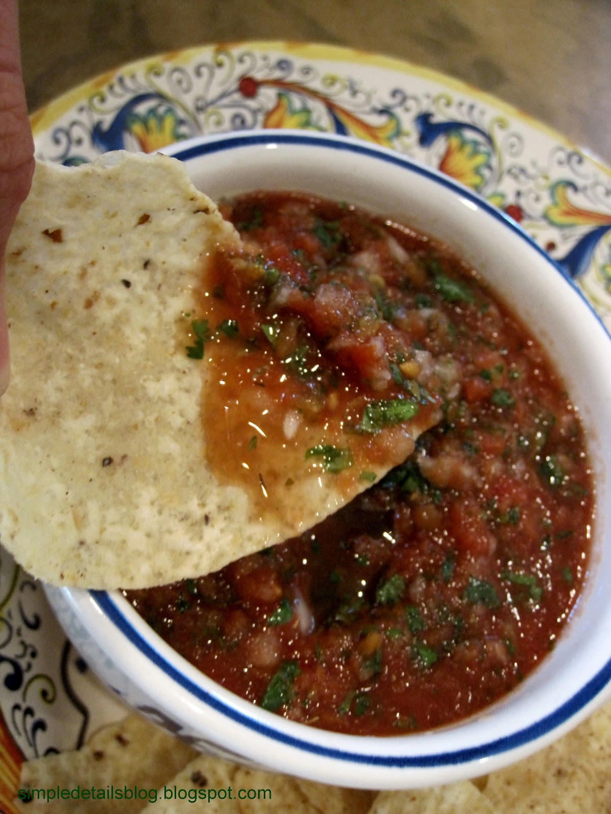 Simple Details the BEST salsa and a gift
