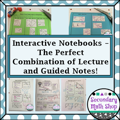 Interactive Notebooks - The Perfect Combination of Lecture and Handout Notes!