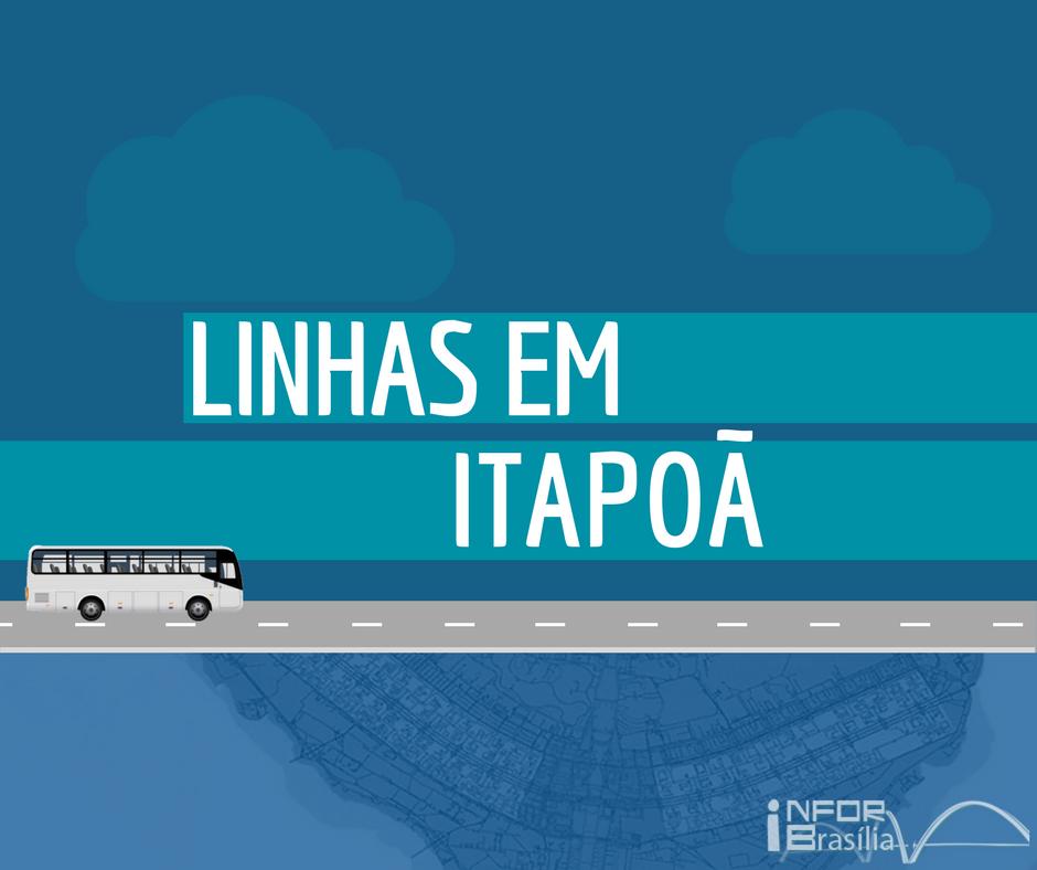 Horário de ônibus das linhas do Itapoã