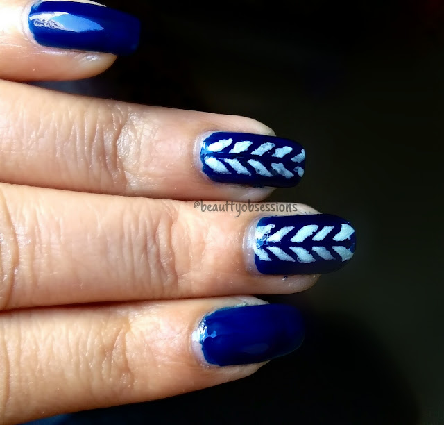 Elegant Party Nailart using Beautybigbang Laser Nail Vinyls