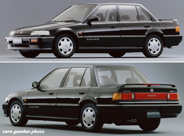 1988 Honda Civic 35XT EF sedan exterior in black color