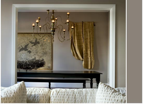Michael Del Piero interior design with modern rustic style, layered decor, and luxurious sophisticated neutral palette.
