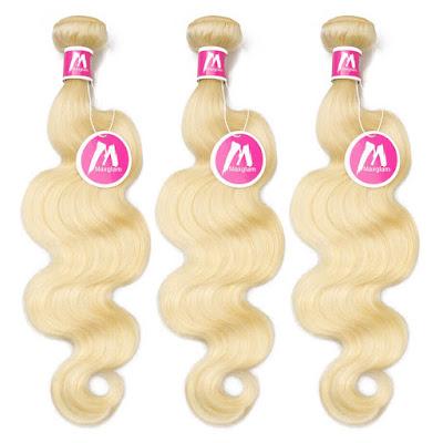 8A Premium Hair Weave Brazilian Hair Bundles Body Wave Blonde 613