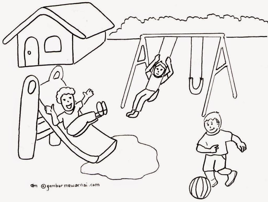 660 Koleksi Gambar Hitam Putih Untuk Mewarnai Anak Sd Terbaik