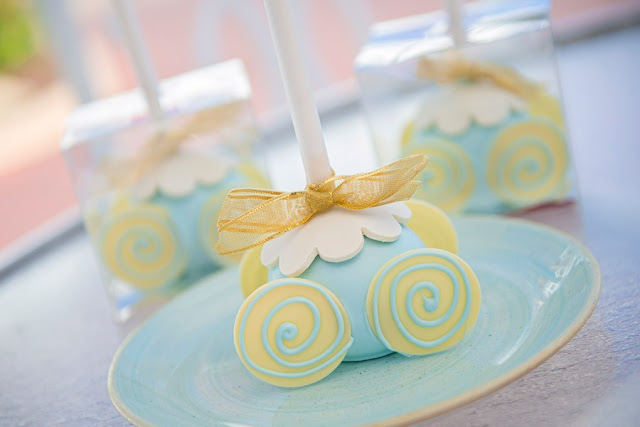 "So This Is Love: A ""Cinderella"" Anniversary Tea Party, Cinderella's Cake Pop Coach"