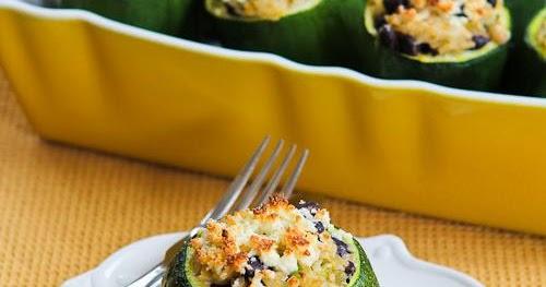 Kalyn's Kitchen®: Vegetarian Stuffed Zucchini Recipe with ...