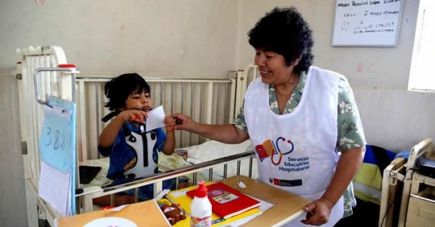 MINEDU: Estudiantes recibirán clases en hospitales - www.minedu.gob.pe