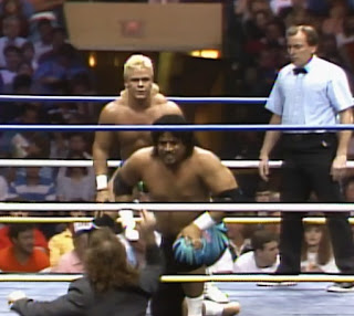 NWA Wrestlewar 1989 - Dynamic Dudes vs. Samoan Swat Team (w/ Paul E. Dangerously)