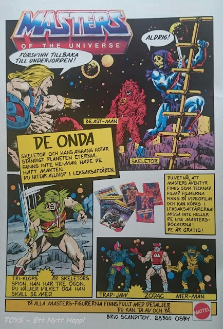 Masters of the Universe - Svensk reklam 1985