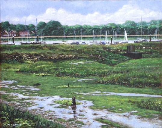 oil painting southampton river hamble