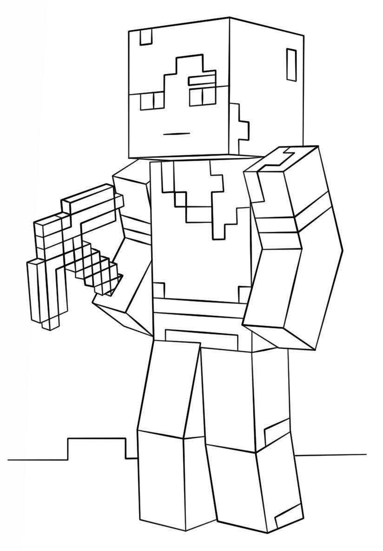 Minecraft Da Colorare