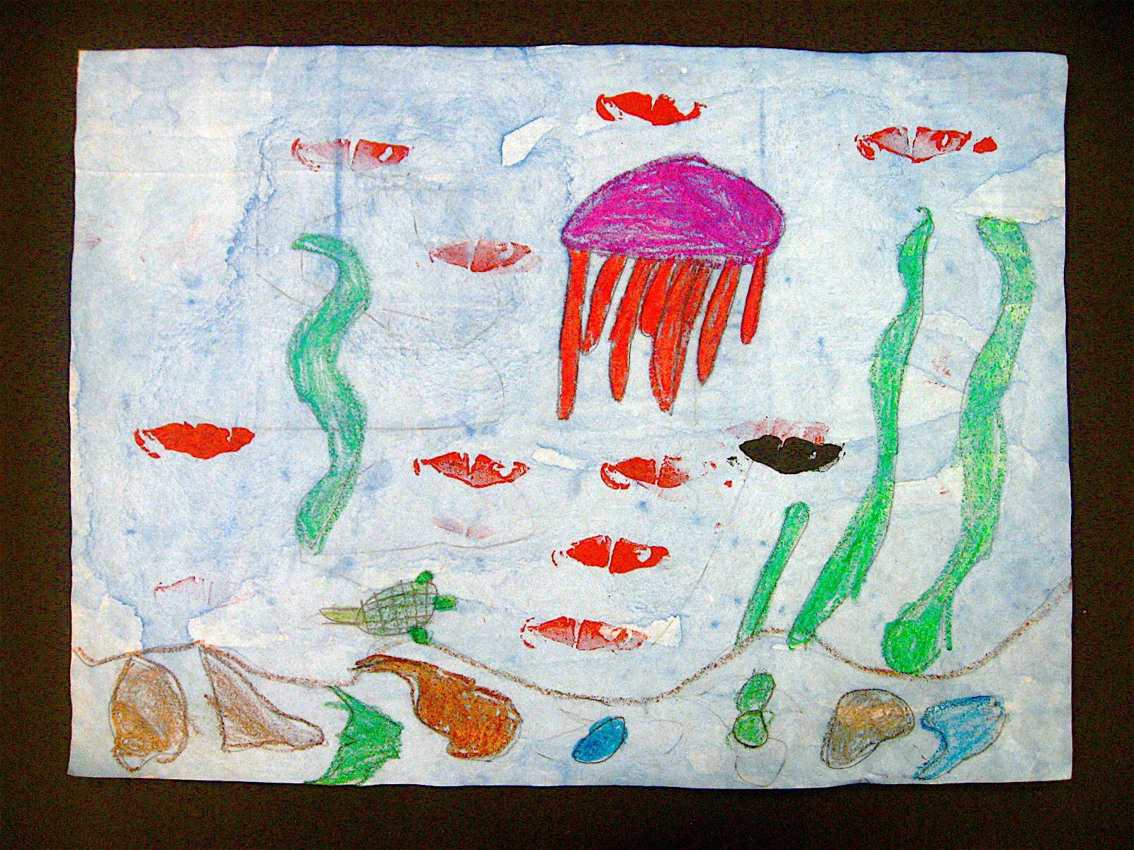 Let S Be Art Smart 1st Grade Swimmy Fish Prints