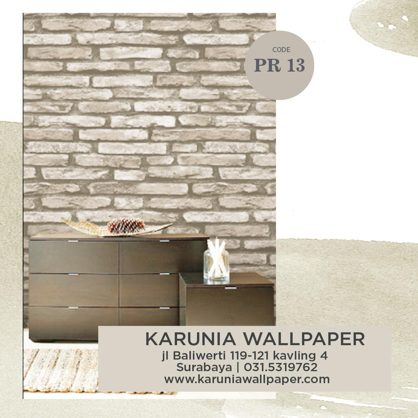jual dinding bata coklat wallpaper
