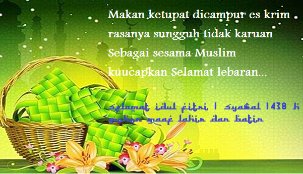 Sms Ucapan Selamat Idul Fitri Lucu Gokil Romantis Operator Sekolah