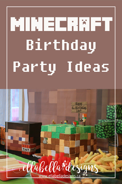 Minecraft Birthday Party Decoration Ideas by Ellabella Designs