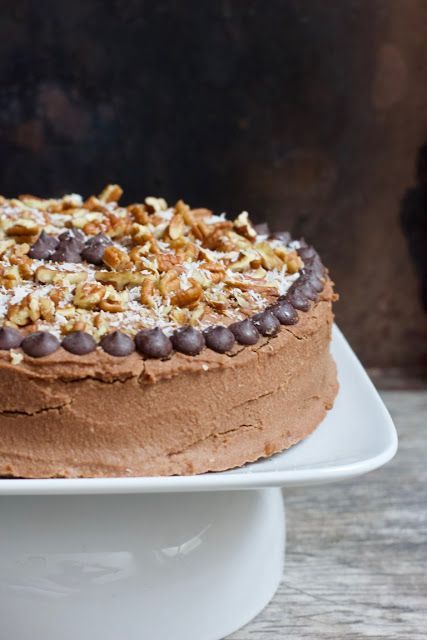Vegan Gluten Free German Chocolate Cake Recipe