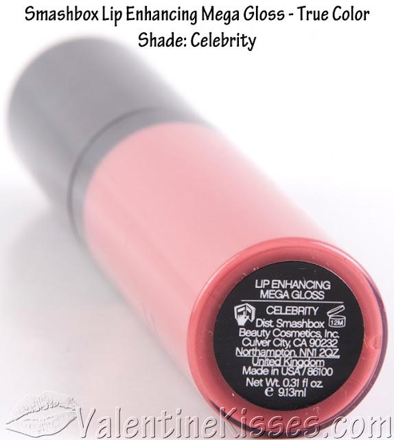 Valentine Kisses Smashbox Lip Enhancing Mega Gloss True