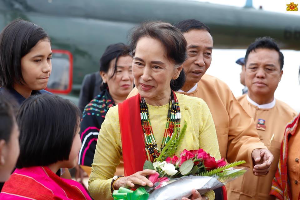 ပြည်ထောင်စုသမ္မတမြန်မာနိုင်ငံတော် နိုင်ငံတော်၏အတိုင်ပင်ခံပုဂ္ဂိုလ်ရုံး:  State Counsellor visits Natma Taung National Park, cultural exhibits in  Kanpetlet Township, Chin State