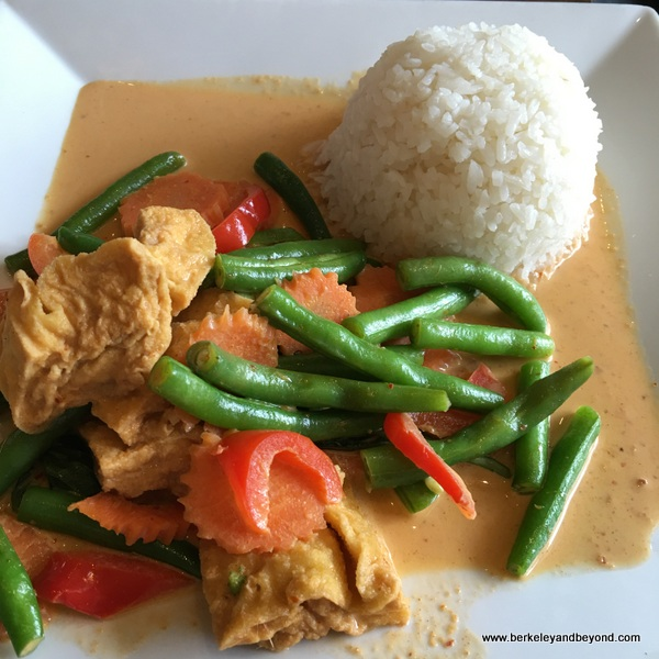 Panang curry with tofu at Arunee Thai in Jackson Heights, Queens, NYC