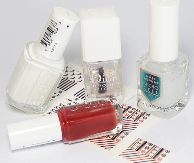 Marine Nails, Summer, Born Pretty Store, Nail Art Design, Essie shall we chalet, blanc, dior