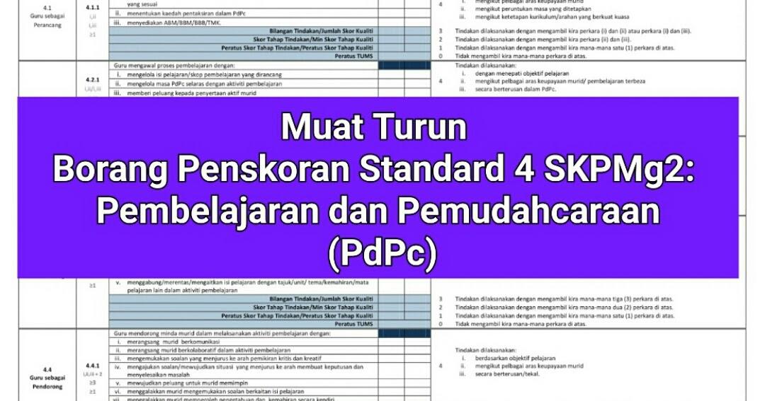 Muat Turun Borang Skpmg2 Standard 4 Muaturuna