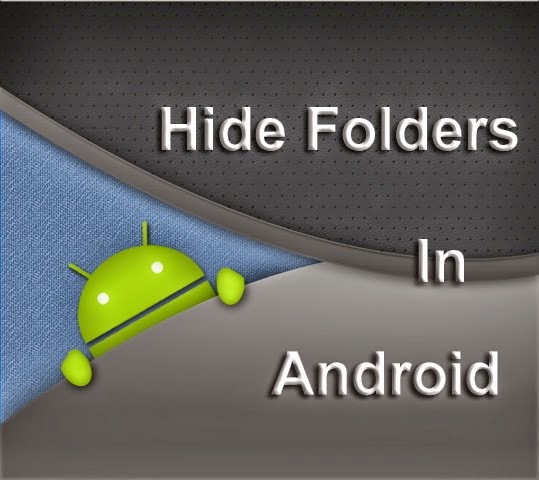 How to hide folder in mobile