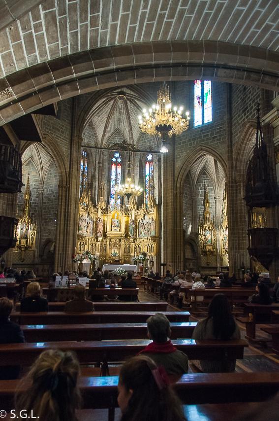Interior de la Iglesia de San Saturnino en Pamplona. Pamplona mucho mas que Sanfermines