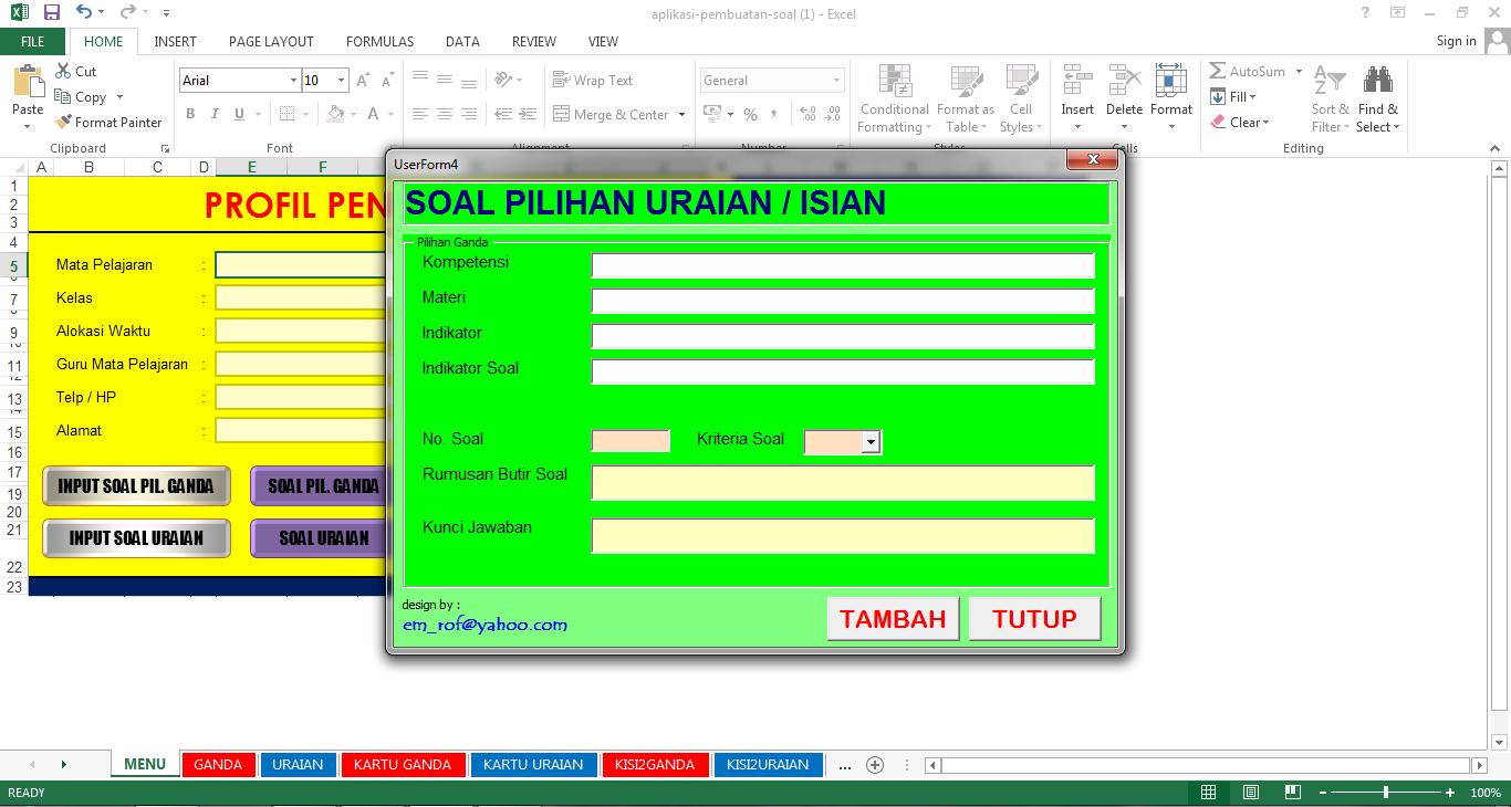 Aplikasi Pembuatan Soal Ujian Pilihan Ganda Dan Esay Url Guru