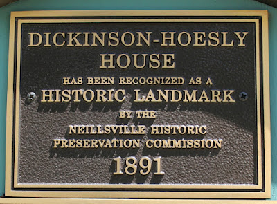 Wisconsin Historical Markers: Dickinson-Hoesly House (1891)