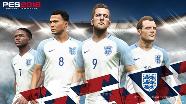 England Start Screen PES 2018