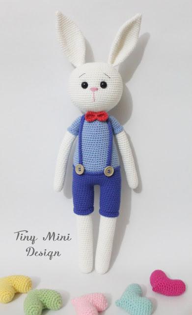 Amigurumi Mini Bunny : Amigurumi Erkek Tavsan Yapilisi- Amigurumi Crackers Bunny ...