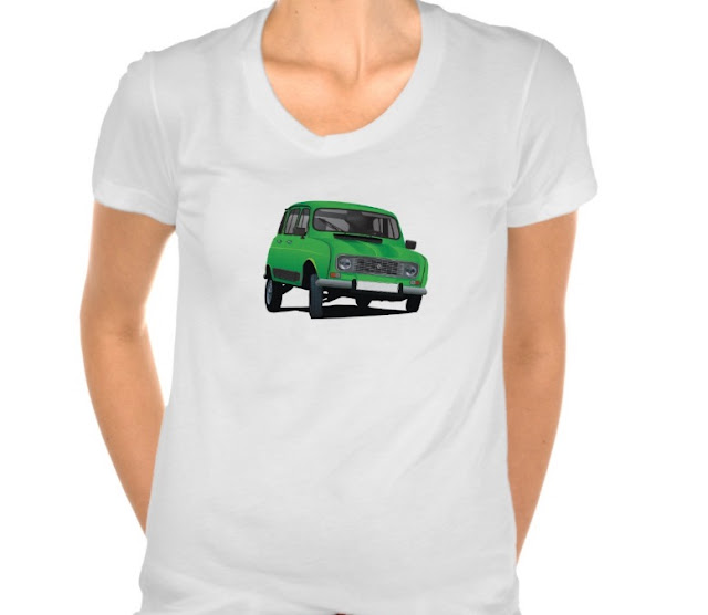 Renault 4 illustration print shirts