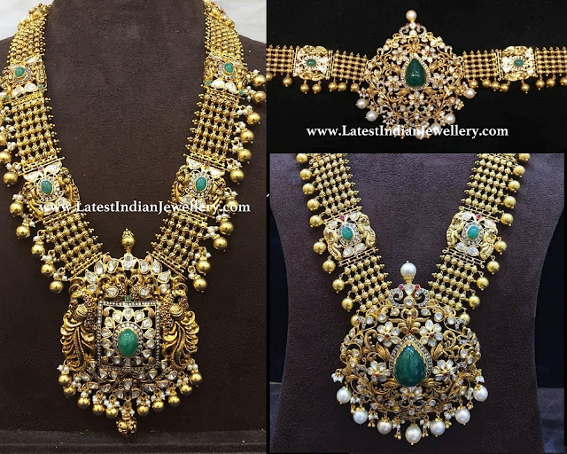 Emerald Highlighted Antique Haram
