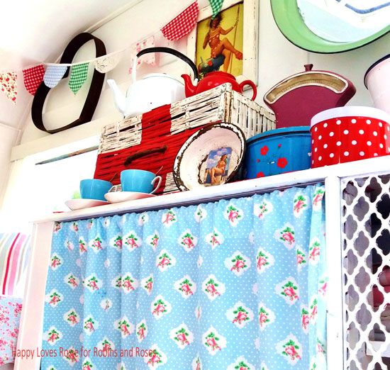 Quirky eclectic vintage caravan decor