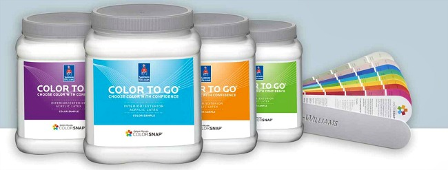 Sherwin-Williams color to go paint samples