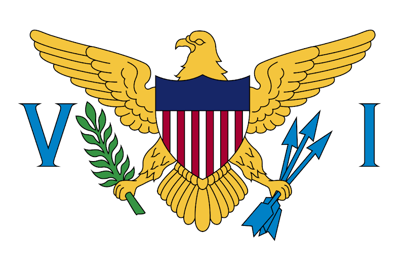 Logo Gambar Bendera Negara Kepulauan Virgin Amerika Serikat PNG JPG ukuran 800 px
